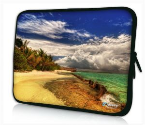 """Sleevy 11"""" laptophoes strand en zee"""