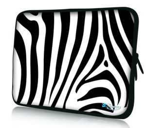 "Sleevy 17"" laptophoes zebra"