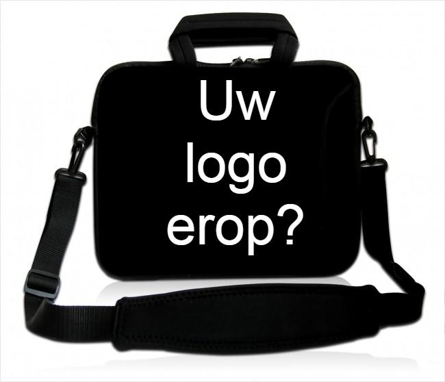 Laptoptas met logo bedrukken
